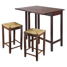 winsome lynnwood 3 pc drop leaf high table with 2 counter ladder