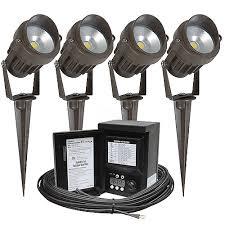 outdoor led photocell lights outdoor led landscape lighting kit four spot lights malibu 45watt