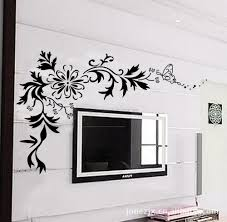 wall stickers near tv wall stickers near tv new 2015 diy wall sticker mural home art decor simple pattern