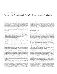 chapter 4 technical framework for ghg emissions analysis