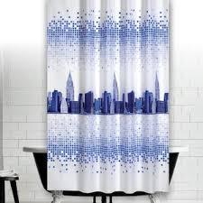 Skyline Shower Curtain Geometric Shower Curtains Wayfair Co Uk