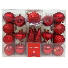40ct fashion shatterproof ornament set wondershop