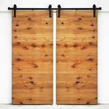 Interior Door Modern by Shop Dogberry Collections Modern Slab Stained Knotty Alder Barn