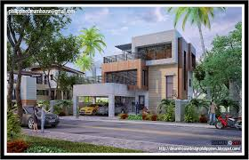 three storey modern house house design