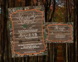 camouflage wedding invitations camo wedding etsy