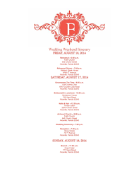 wedding itinerary template for guests wedding itinerary template free edit create fill and