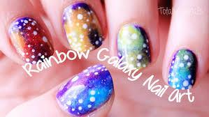 rainbow galaxy nail art totallycoolnails youtube
