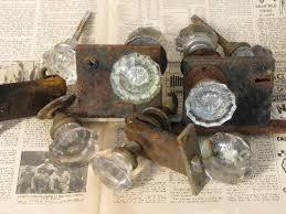 Vintage Glass Door Knobs by Lot Vintage Door Hardware Locks U0026 Antique Glass Doorknobs