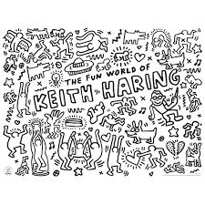papier peint a colorier keith haring set de table à colorier omy design and play pour