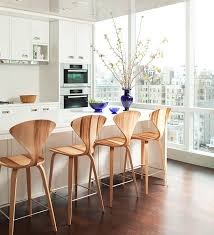 Modern White Bar Stool Kitchen Breakfast Bar Stools Contemporary Kitchen And Decor
