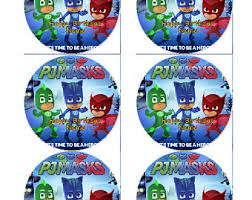 pj masks sheet cake etsy
