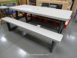 Lifetime Folding Picnic Table Folding Table Costco Lifetime Products 6 Foot Folding