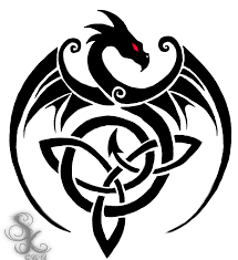 cat and dragon celtic love trinity knot tattoo design in 2017