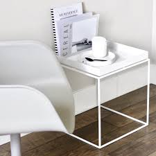 Hay Side Table Hay Tray Side Table White 40x40 Cm