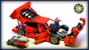 lego f40 lego f40 with v8 engine stop motion review alexsplanet