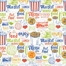 seamless pattern food food menu seamless pattern vector 02 vector food free download