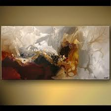 modern paint painting soft abstract modern painting red and white 5480