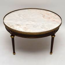 antique oval marble top coffee table large antique french marble top coffee table 1910 to 1920 france