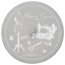 linge d antan boite à couture organiseur ronde charme d u0027antan gris achat