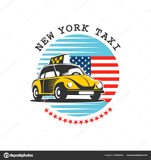american car logos taxi new york yellow taxis in the background of the american star