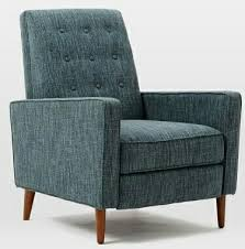 West Elm Armchair Rhys Recliner Heather Tweed Fabric In Marine West Elm Blogs