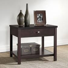 Morgan Computer Desk With Hutch Black Oak by Nightstands Bedroom Furniture The Home Depot