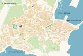 Espana Map Ibiza španělsko Mapa Ibizy španělska Formentera Barcelona