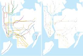 Nyc Mta Map Project Us Routes As A Subway Map Cameron Booth If The Us