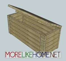 Plans For Making A Wooden Bench by Easy Way To Store Outside Stuff Pressure Treated Lumber