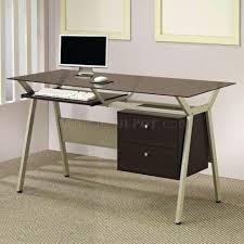 Small Glass Top Computer Desk Desk 55 Black Glass Home Office Desk Ergonomic Computer Desk