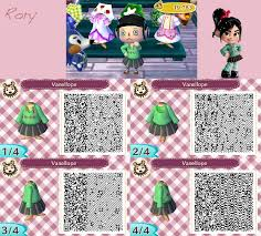 animal crossing new leaf qr code hairstyle animal crossing new leaf vanellope s dress by nekorory on deviantart