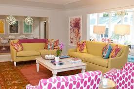 yellow sofas contemporary living room johnson vann interiors