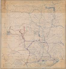 Old Mexico Map by Trails Made And Routes Used By The Fourth U S Cavalry Under