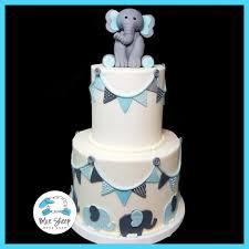 Dessert Flags Buttercream Elephant U0026 Flags Baby Shower Cake Blue Sheep Bake Shop