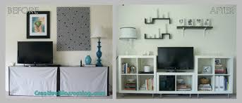 furniture cheap living room decor using ikea expedit bookcase