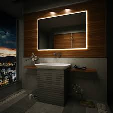 Led Lighted Mirrors Bathrooms Backlit Led Illuminated Bathroom Mirror Sensor Switch Demister