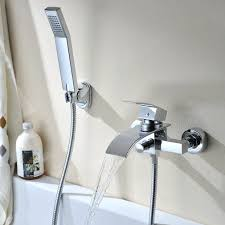 Faucet Shower Converter Articles With Bath Faucet With Shower Hose Tag Beautiful Bathtub