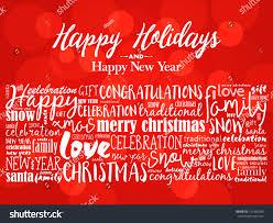 happy holidays happy new year stock vector 751430095