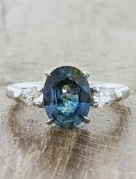 blue green rings images Permelia oval blue green sapphire three stone ring ken dana jpg