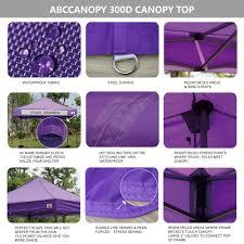 Steel Pop Up Gazebo Waterproof by Abccanopy 10x10 King Kong Purple Canopy Instant Shelter Outdor