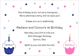 pink and blue cupcakes 1st birthday invitation