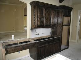 kitchen dark stained kitchen cabinets best home design creative