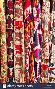 turkish embroidered fabrics at arasta bazaar sultanahmet