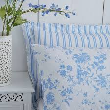 Thomas Single Duvet Cover Blue Floral Toile Duvet Cover Set Charlotte Thomas