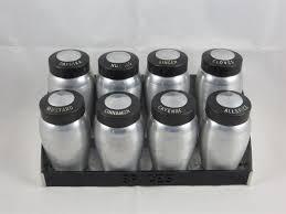 Spice Shaker Vintage Kromex Aluminum Spice Rack With 8 Spice Shaker Jars Mid