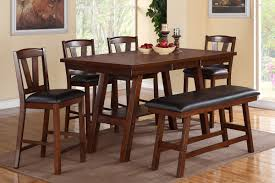 sturdy dining room set with bench and chairs counter height wooden