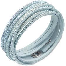 blue crystal bracelet swarovski images Swarovski light blue slake wrap bracelet with light multi color jpg