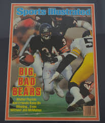 lot detail walter payton autographed sports illustrated signed