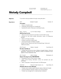 Sample Resume Nurses by Sample Resume Nursing No Experience