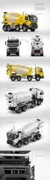 volvo truck store volvo mixer truck mockup pack in vehicle mockups on yellow images